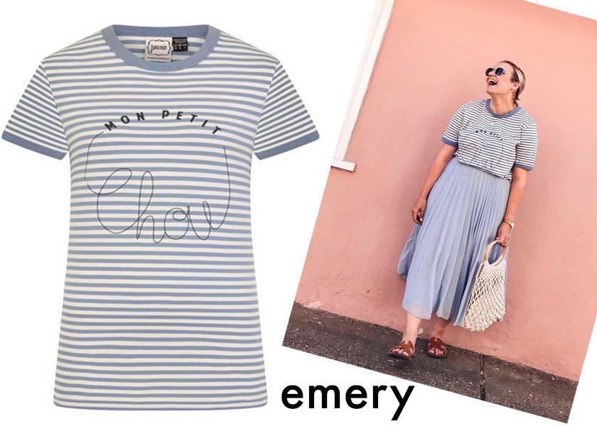 Blogger Style Blue Stripe Tee
