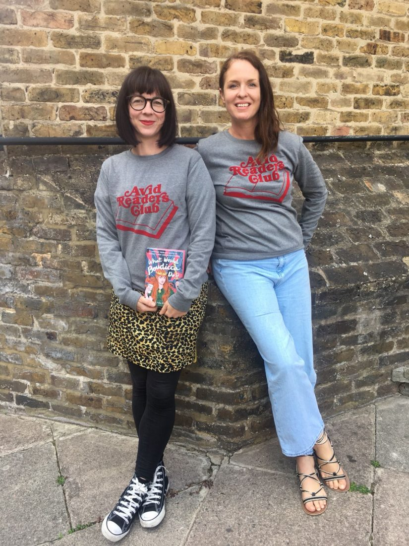 Elizabeth and Beth wearing our Bronte Sweatshirt