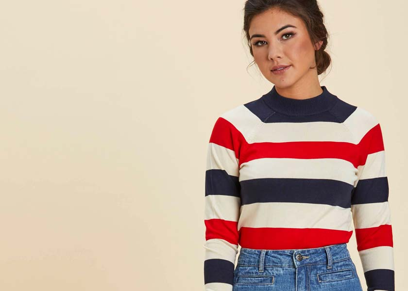Vintage-inspired French Style Jumper
