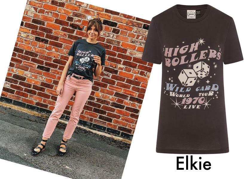 Blogger style Sophia Rosemary wearing the Elkie Tee