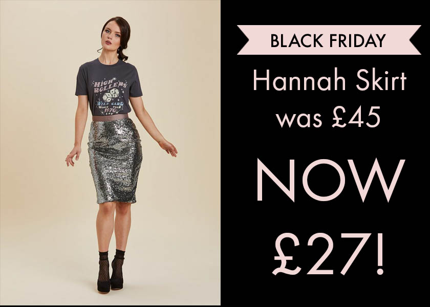 Hannah Sequin Skirt Reduced Black Friday