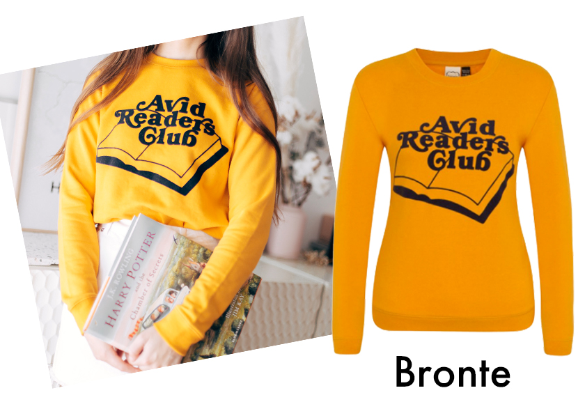 Blogger She The Style, wearing Joanie's Mustard Bronte Sweatshirt