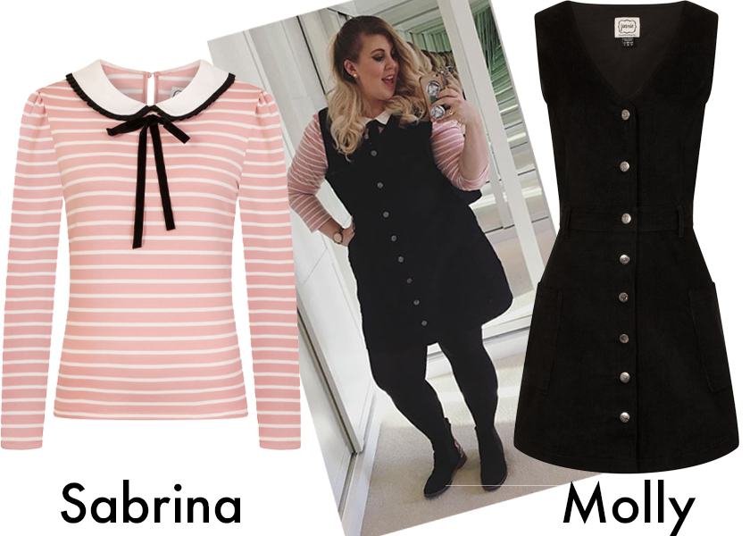 Louise Pentland blogger Style, wears Sabrina and Molly