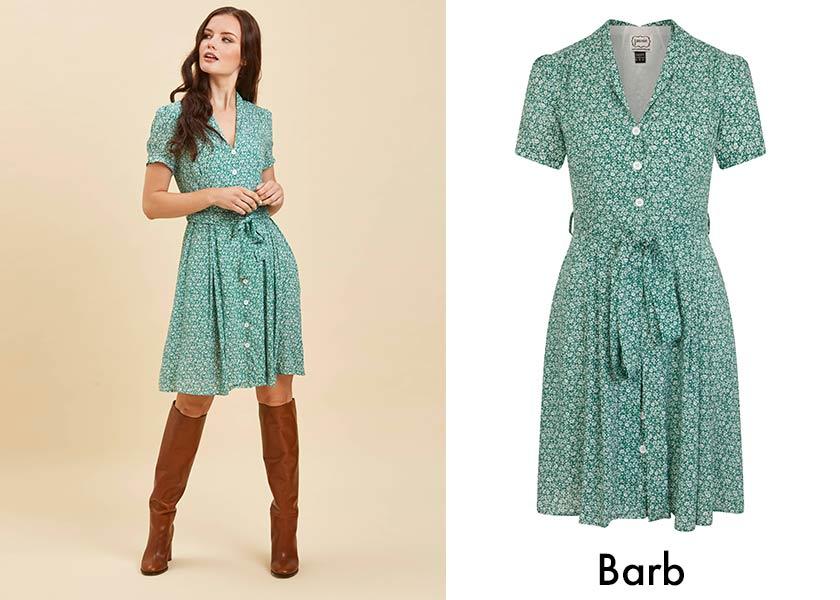 Breastfeeding-friendly style - printed tea dress