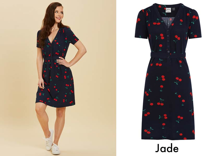 Breastfeeding-friendly style - Jersey printed dress