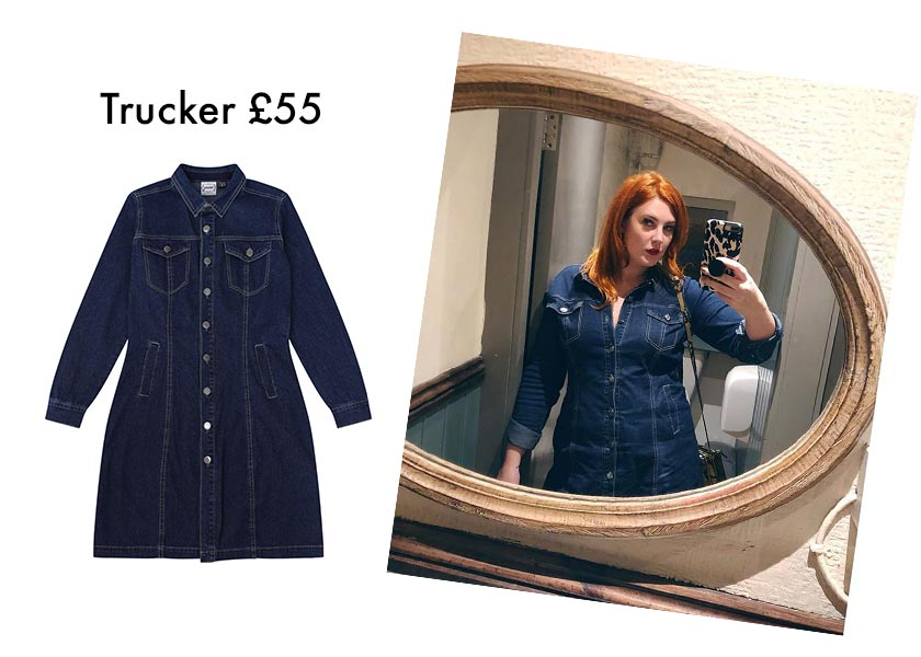 The Em Edit Trucker Denim Dress