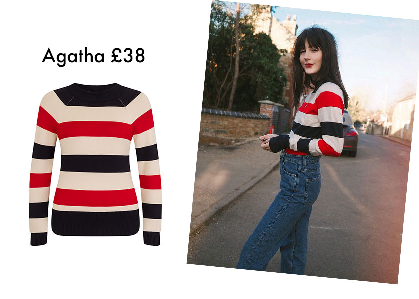 Wonderful You wears Joanie Stripe Jumper