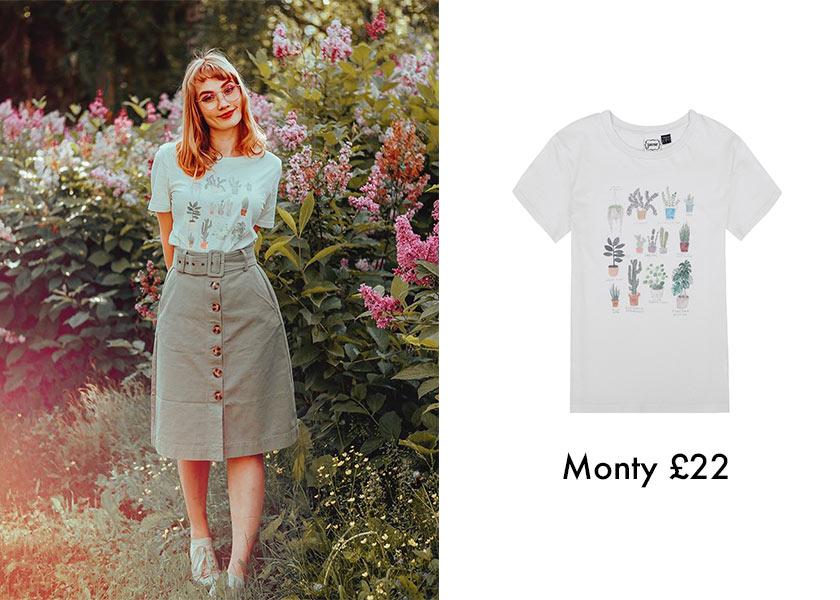 Blogger Style Jerianie wears Joanie Plant T-shirt