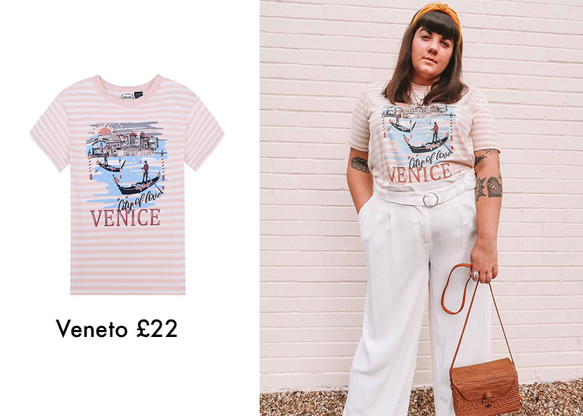 Blogger Style Venice Stripe T-shirt by Joanie