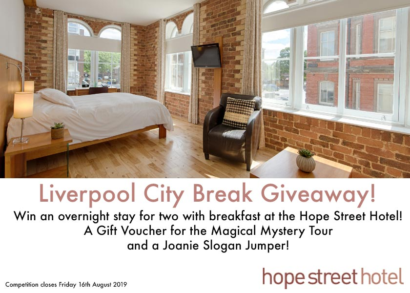 Hope Street Hotel Liverpool City Break Giveaway