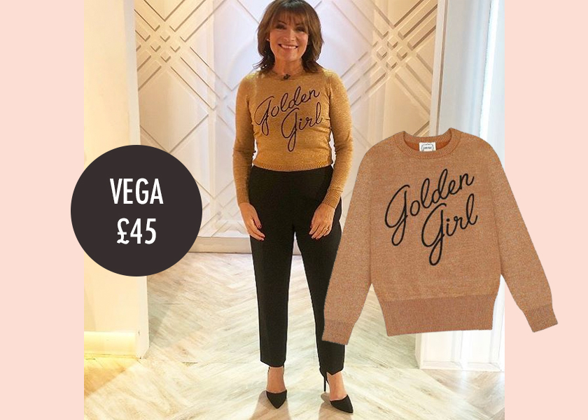 golden girl jumper lorraine kelly